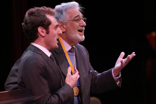 Eric Levintow and Plácido Domingo