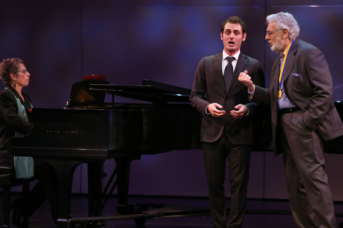 Plácido Domingo and Eric Levintow