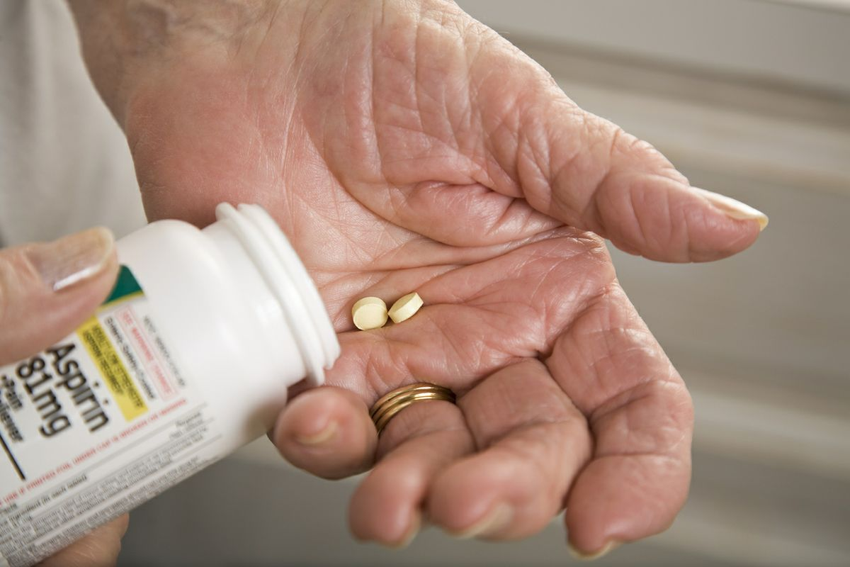 Aspirin in hand
