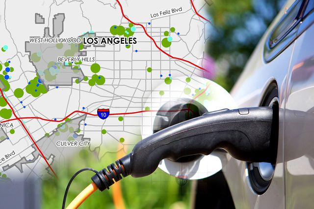 Map and electric vehicle charging