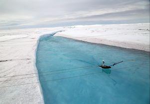 Greenland flotation platform