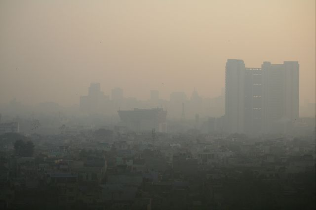 Pollution in Delhi, India