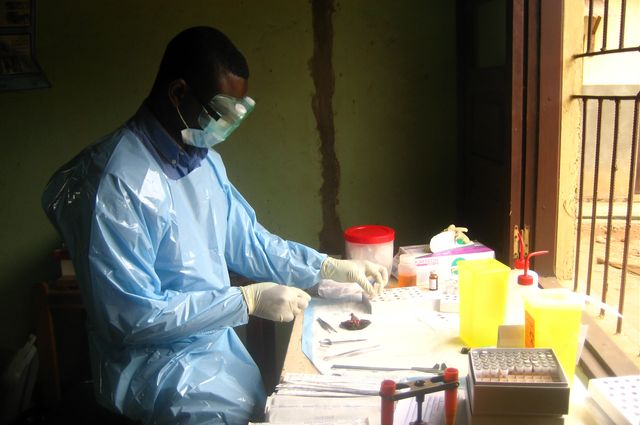 Ebola virus researcher