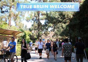 UCLA students Bruin Walk