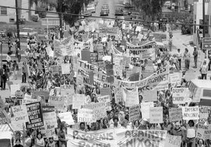 Protesting Richard Nixon