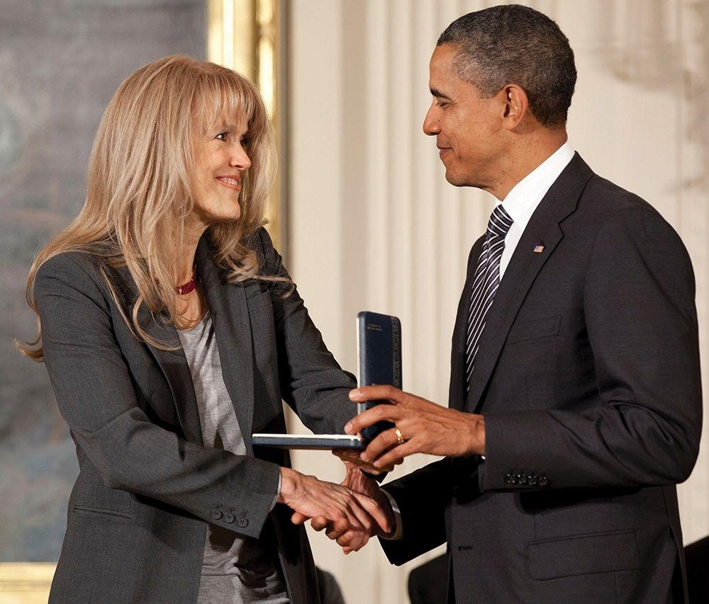 Margaret Martin and President Obama