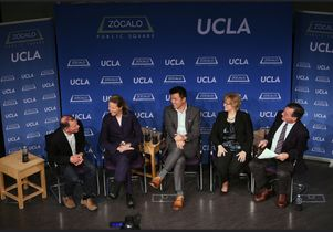 Jerry Nickelsburg, Kati Suominen, Stephen Cheung, Katherine Stone and moderator Steven Greenhouse