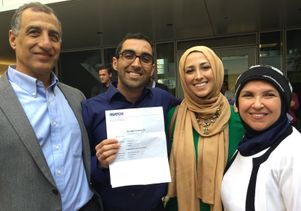 UCLA medical student Mostafa Al-Alusi and his family