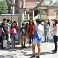 Janitors and their children on tour of UCLA