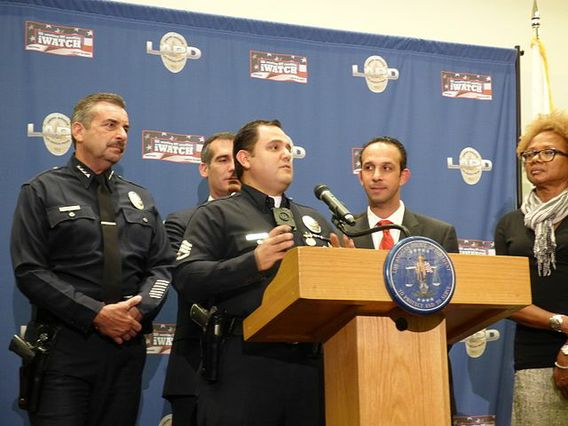 Los Angeles Police Department press conference