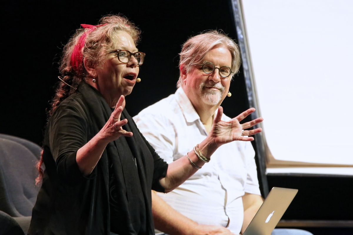 Lynda Barry and Matt Groening