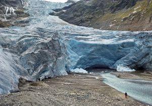 Trift glacier in Switzerland