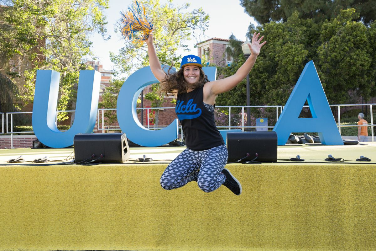 UCLA student on Bruin Day