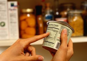 Reading a nutritional label