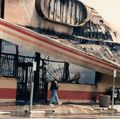 Burned building in Los Angeles
