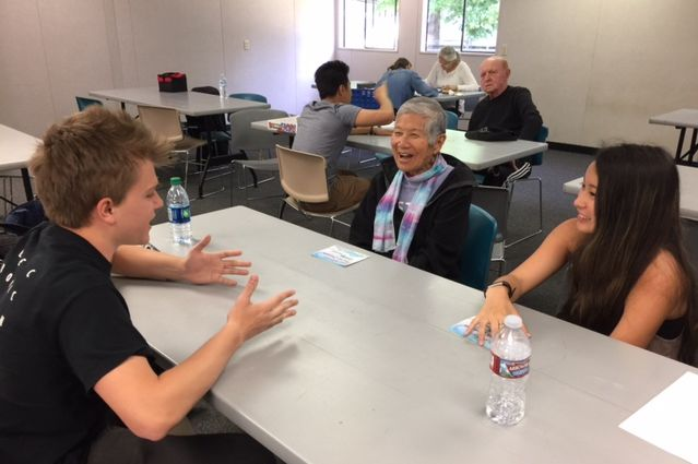 UCLA students, patients with dementia