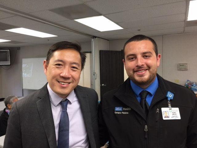 Dr. Zaldy Tan and Pedro Jimenez