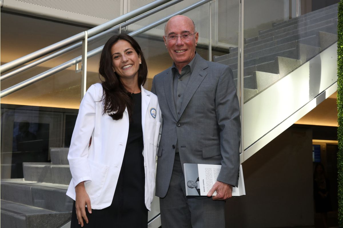 David Geffen and Caroline Gross