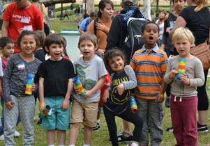Preschoolers at UCLA's largest literacy fair for kids