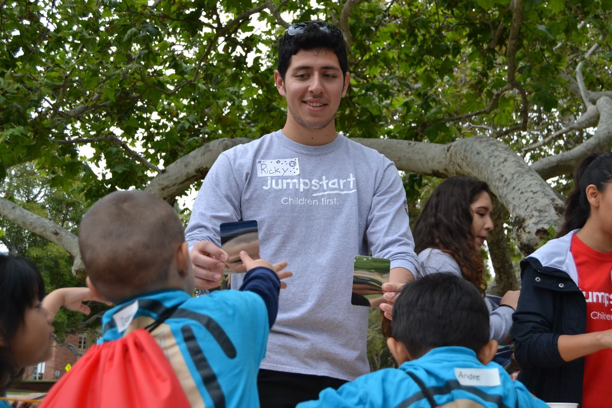 A Jumpstart UCLA student at the literacy fair