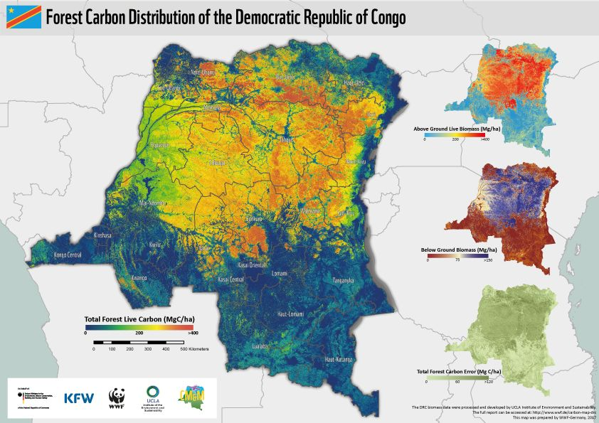 Forest Carbon Map of the Congo