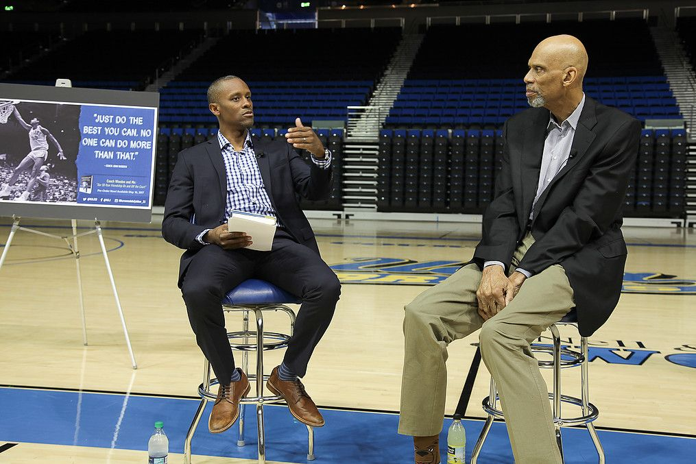 Tyus Edney and Kareem Abdul-Jabbar