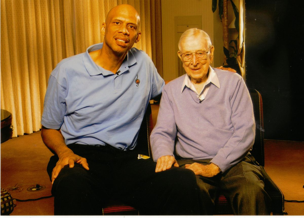 Kareem Abdul-Jabbar and Coach John Wooden