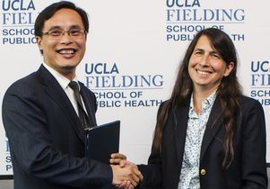 Dr. Luqi Huang and Dean Jody Heymann