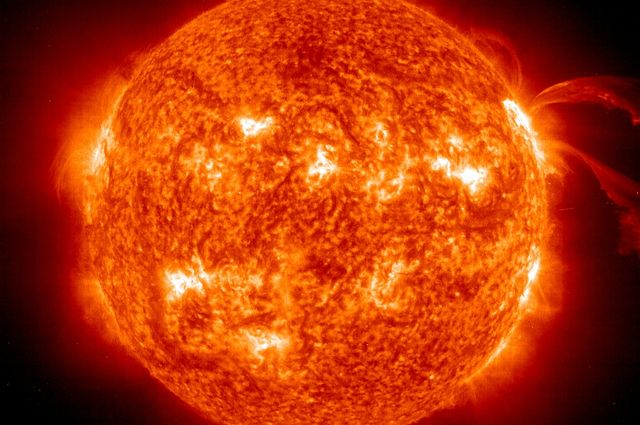 astronomers find that the sun s core rotates four times faster than