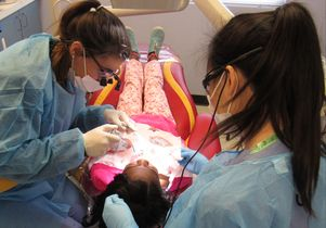 Child at dentist