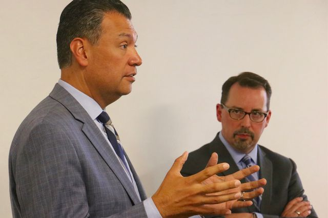 Alex Padilla and Dean Logan