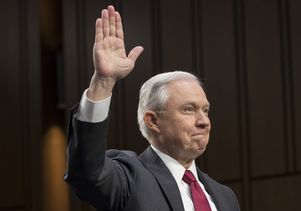 Jeff Sessions takes oath