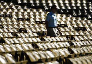 Dodger Stadium during heat wave