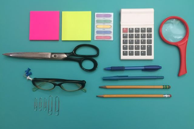 Order and organization of office supplies