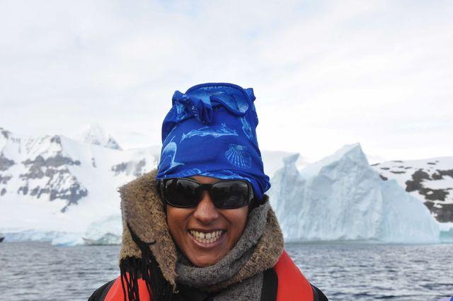 UCLA climate researcher Aradhna Tripati in Antarctica.