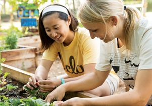 Students in sustainability