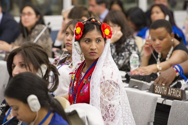 Delegates attending the 13th session of the United Nations Permanent Forum on Indigenous Issues