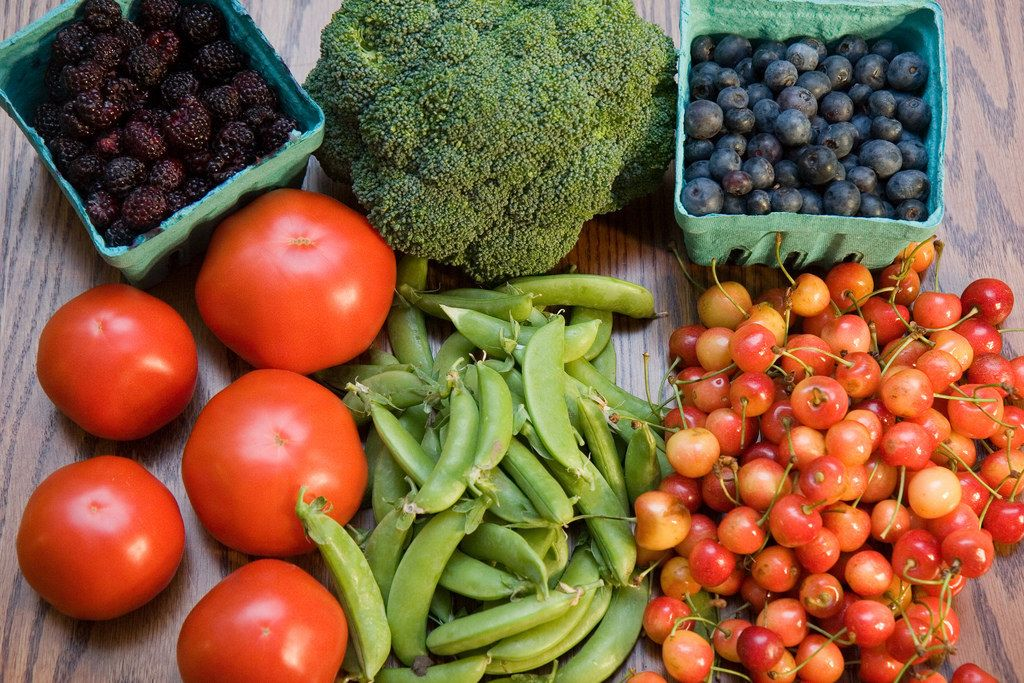 Farmers market fruit and vegetables