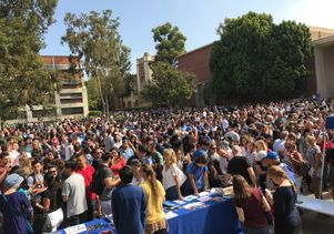 Eclipse crowd at UCLA