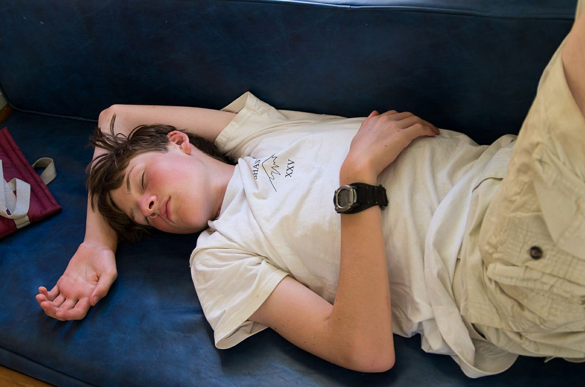 Sleeping teenager