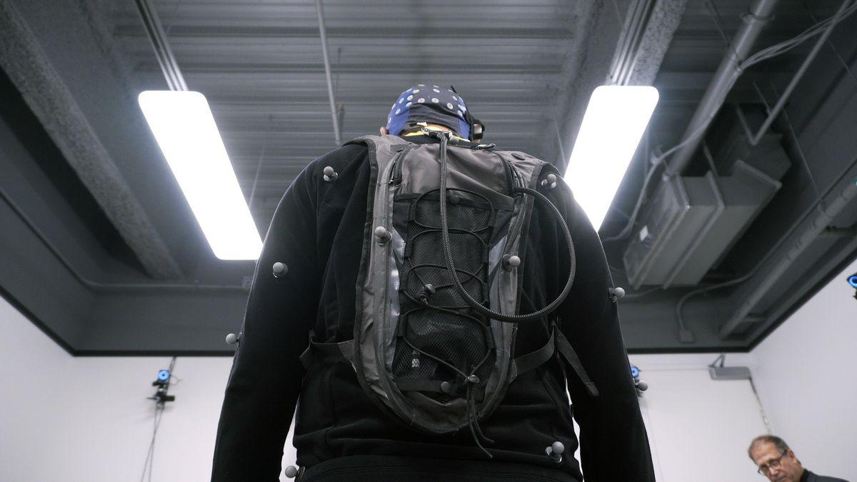 Virtual reality backpack