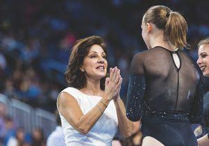 Valorie Kondos Field with UCLA gymnast