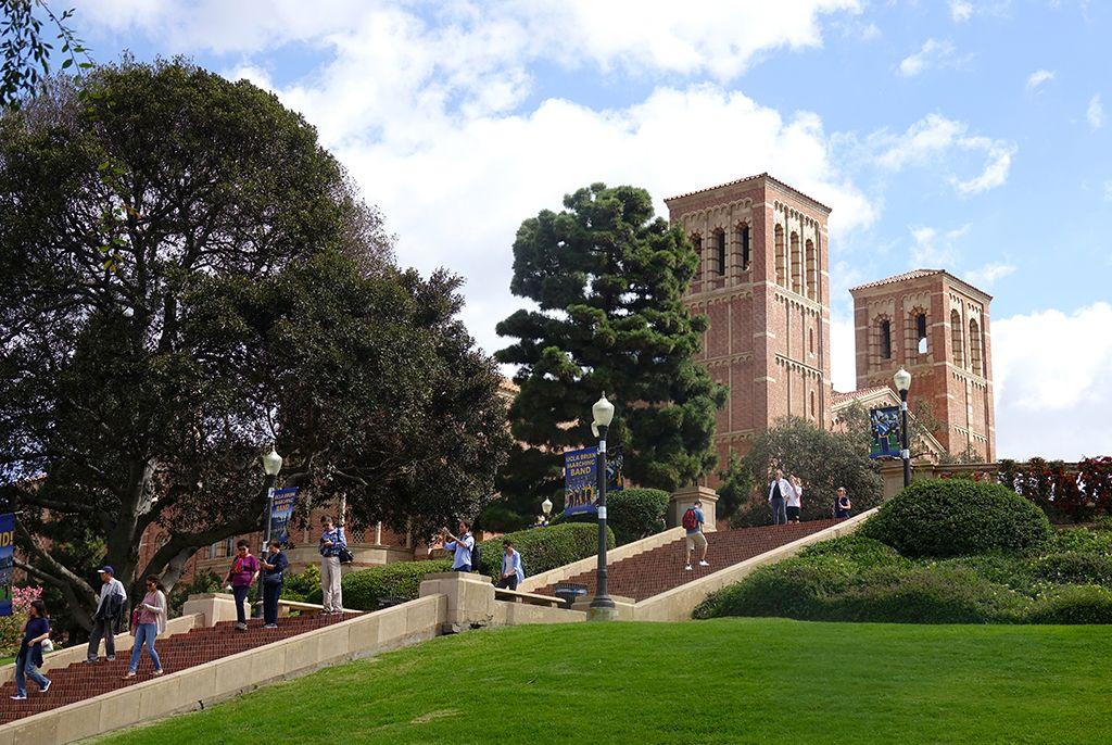 Students on UCLA's Janss Steps