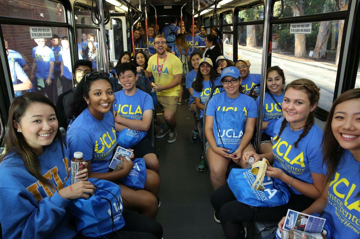 UCLA students on Volunteer Day