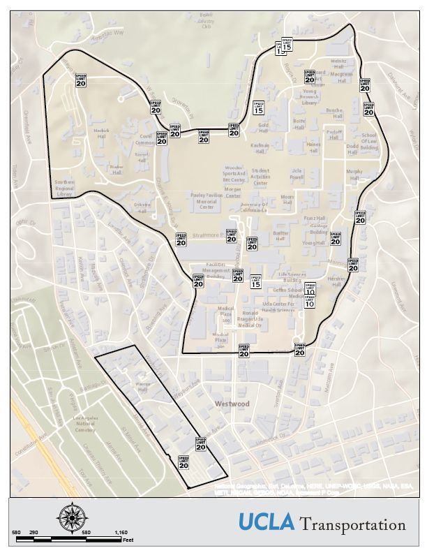Map for 20 is Plenty showing UCLA campus