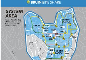 UCLA bike share map