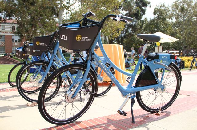 Bruin Bike Share bicycles