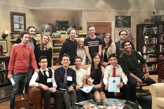Big Bang Theory cast, scholars and Chuck Lorre