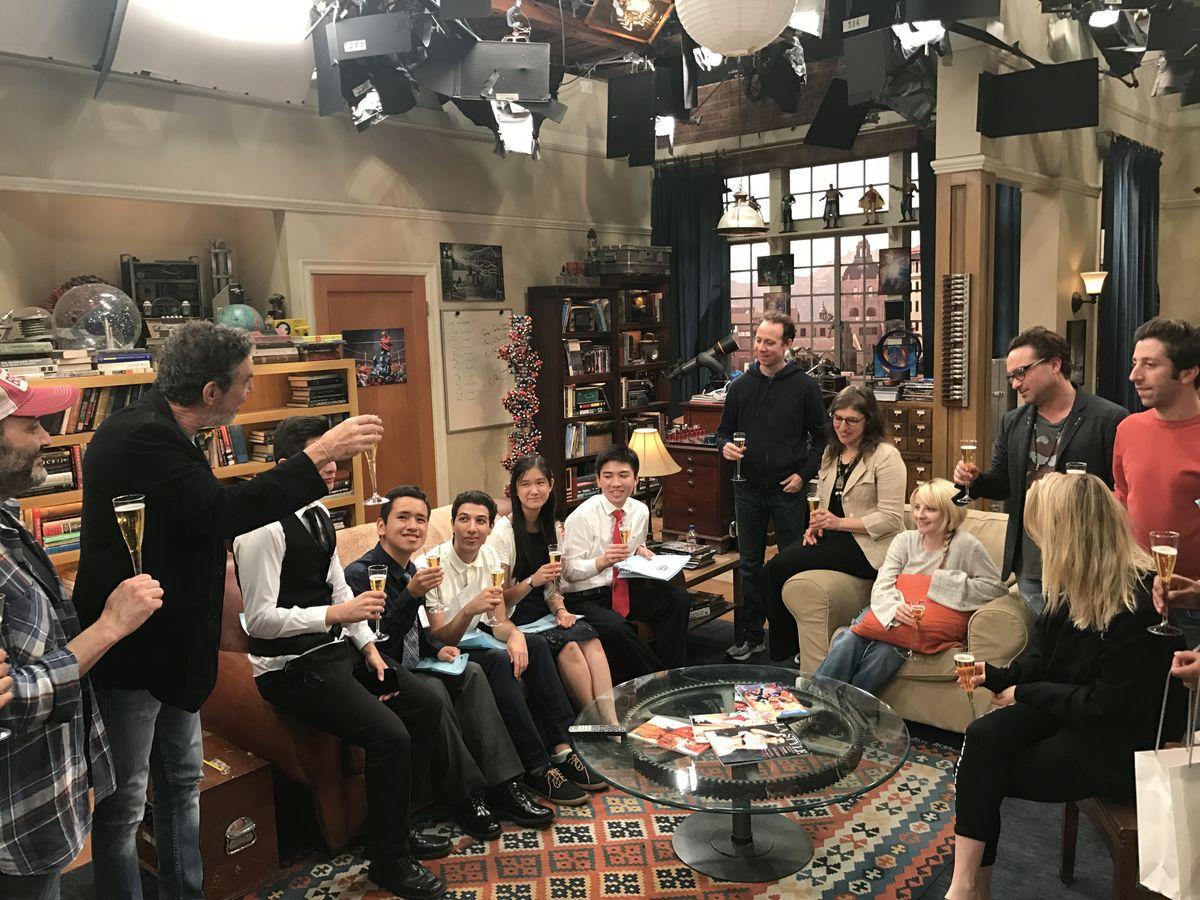 Chuck Lorre toasting UCLA scholars