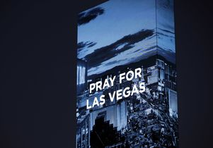 Pray for Vegas sign at W Hotel